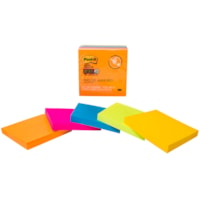 Post-it Super Sticky Notes in Rio de Janeiro Colour Collection, Unlined, 3