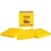 Feuillets super collants Post-it, jaune électrique, 3 po x 3 po, blocs de 70 feuillets, emb. de 5