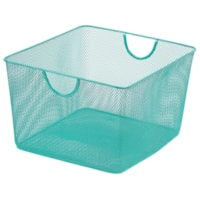 Merangue Mesh Office Storage Basket, Mint Green