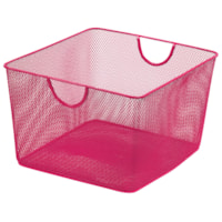 Merangue Mesh Office Storage Basket, Pink