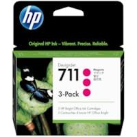Cartouches d'encre DesignJet HP 711 (CZ135A), magenta, 29 ml, emb. de 3