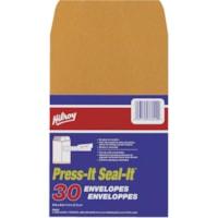 Hilroy Press-It Seal-It Adhesive Envelopes, Kraft, 5 7/8