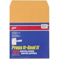 Hilroy Press-It Seal-It Adhesive Envelopes, Kraft, 10