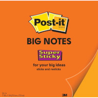 Post-it Super Sticky Big Notes, Orange, 11