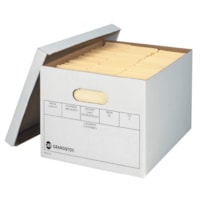 Grand & Toy Medium-Duty Storage Boxes, White, 12/CT