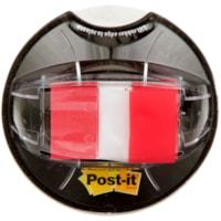 Languettes adhésives avec message de 1 po et distributeur Post-it, rouge, emb. de 200