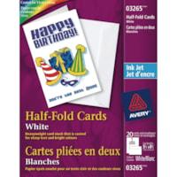 Avery Half-Fold Greeting Cards, White, 5 1/2