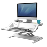 Fellowes Lotus DX Sit-Stand Workstation, White
