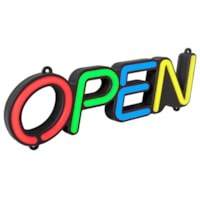 Royal Sovereign Remote Control LED 'Open' Sign, Multi-Colour