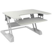 TygerClaw Sit-Stand Desktop Workstation Stand, White