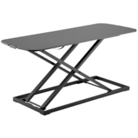 TygerClaw Tabletop Sit-Stand Workstation, Black