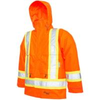 Veste de sécurité professionnelle Journeyman 300D orange vif de taille moyenne Viking