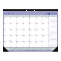 Blueline 13-Month Academic Monthly Desk Pad Calendar , 21 1/4