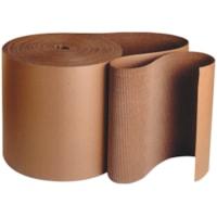 Rouleau de carton ondulé simple face à cannelures C Crownhill, Kraft, 12 po x 250 pi
