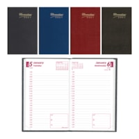 Brownline 12-Month Daily Pocket Planner, Assorted Colours, 4 3/4