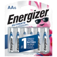 Piles Ultimate Lithium Energizer AA, emb. de 6