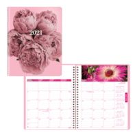 Blueline Pink Ribbon 14-Month Monthly Planner, 8 7/8