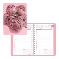 Blueline Pink Ribbon 12-Month Daily Planner, 8
