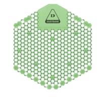 Tamis d'urinoir désodorisant avec technologie enzymatique 3D Shield Dustbane, concombre et melon, caisse de 10