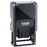 Trodat Printy 4750 Self-Inking Text Dater Stamp, Reçu, French