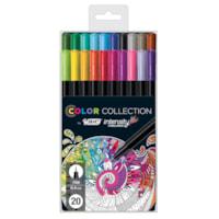 BIC Intensity Colour Collection Fineliner Porous Tip Pens, Assorted Colours, Fine 0.4 mm, 20/PK