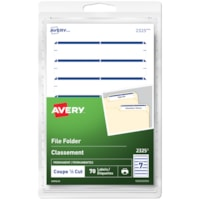 Avery 2325 File Folder Labels, Blue, 3 1/2