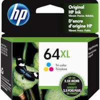 Cartouche d'encre d'origine à rendement élevé HP 64XL (N9J91AN), tricolore