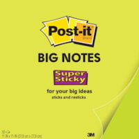 Post-it Super Sticky Big Notes, Green, 11
