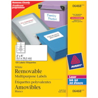 Avery 6468 Removable Multi-Purpose Labels, White, 2