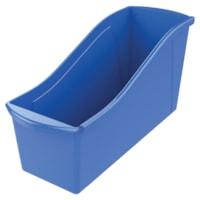 Bac de rangement pour livres Storex, bleu, grand format