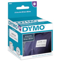 DYMO LabelWriter Name Badge Thermal Labels, White, 2 1/4
