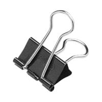 Acco Fold-Back Binder Clips, Black/Silver, 1/2