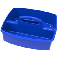 Storex Large 2-Compartment Storage/Organizing Caddy, Blue