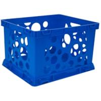 Storex Premium File Crate, Blue, 7 L, Mini Size