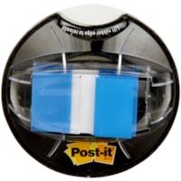 Languettes adhésives avec message de 1 po et distributeur Post-it, bleu, emb. de 200
