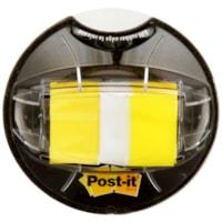 Languettes adhésives avec message de 1 po et distributeur Post-it, jaune, emb. de 200