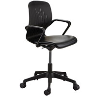 Safco Shell Desk Chair, Black