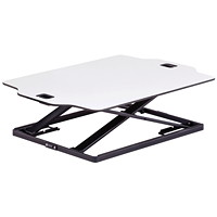 Safco Accent Desktop Sit to Stand Laptop Stand, White