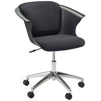 Safco COSY Social Chair, Black, 5-Star Base with Casters