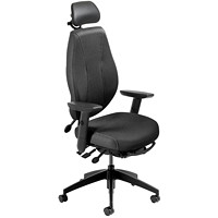 ergoCentric airCentric 2 Multi-Tilt Task Chairs, Standard Size, Black, With Headrest