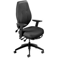 ergoCentric airCentric 2 Multi-Tilt Task Chair, Tall Size, Black