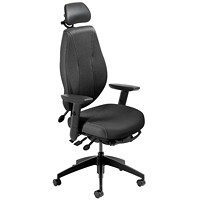 ergoCentric airCentric 2 Multi-Tilt Task Chair, Tall Size, Black, With Headrest
