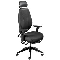 ergoCentric airCentric 2 Multi-Tilt Task Chair, Small Size, Black, With Headrest