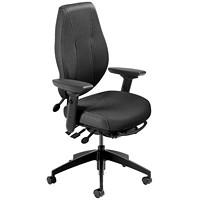 ergoCentric airCentric 2 Multi-Tilt Task Chair, Standard Size, Black Fabric Seat/Back
