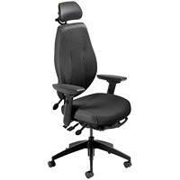 ergoCentric airCentric 2 Multi-Tilt Task Chair, Standard Size, Black, With Headrest