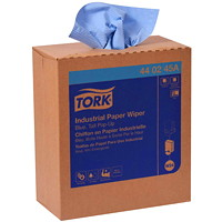 Tork 4-Ply Industrial Multifold Paper Wipers, Pop-Up Box, Blue, 90 Sheets/BX, 10 Boxes/CS
