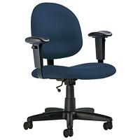 Global Score Series Low-Back Office Task Chair, Twilight Blue, Terrace Fabric