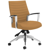 Global Accord Mid-Back Multi-Tilter Chair, Cookie, Allante-FRee Fabric