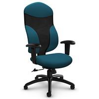Global Tye Mesh High-Back Tilter Chair, Bluebell, Terrace Fabric Seat