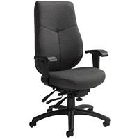 Global Aurora High-Back Multi-Tilter Chair, Granite Rock Grey, Urban Fabric